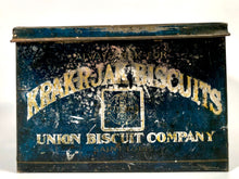 Load image into Gallery viewer, Antique Fine KRAK-R-JAK BISCUIT Tin Box || Union Biscuit Company