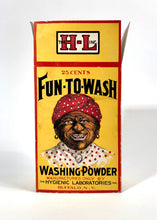 Load image into Gallery viewer, Unused 1910's FUN-TO-WASH Washing Powder Box || Black Americana, Racist Advertising
