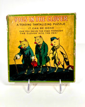 Load image into Gallery viewer, Antique PIGS IN THE CLOVER Children's Puzzle, Maze Game || Milton Bradley