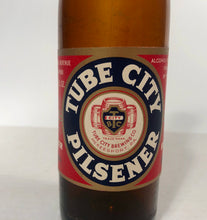 Load image into Gallery viewer, Vintage Tube City Pilsner Beer Empty 12 oz Bottle bottled in McKeesport, PA by Tube City Brewery