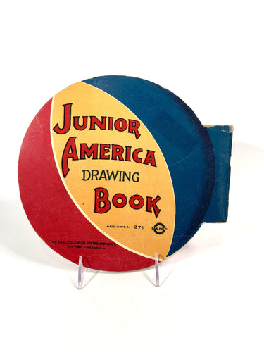 1921 Children's JUNIOR AMERICA DRAWING BOOK, Coloring Book || Saalfield Publishing Co.