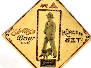 Antique 1920's SMITTY'S BOW AND KERCHIEF SET, Boy's Vintage Fashion Box