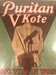 1920's PURITAN V KOTE Wool Cardigan, Knit Sweater Box, Vintage Fashion