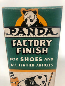 1945 PANDA Factory Finish for Shoes and all Leather Articles, Panda Corporation