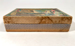 Early 1900s Children's LITTLE ARTIST DRAWING STENCIL ART BOX, Packaging