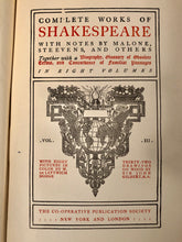 Load image into Gallery viewer, Antique SHAKESPEARE Collected Plays Book || Taming of the Shrew, Winter's Tale, Macbeth, King John, Comedy of Errors