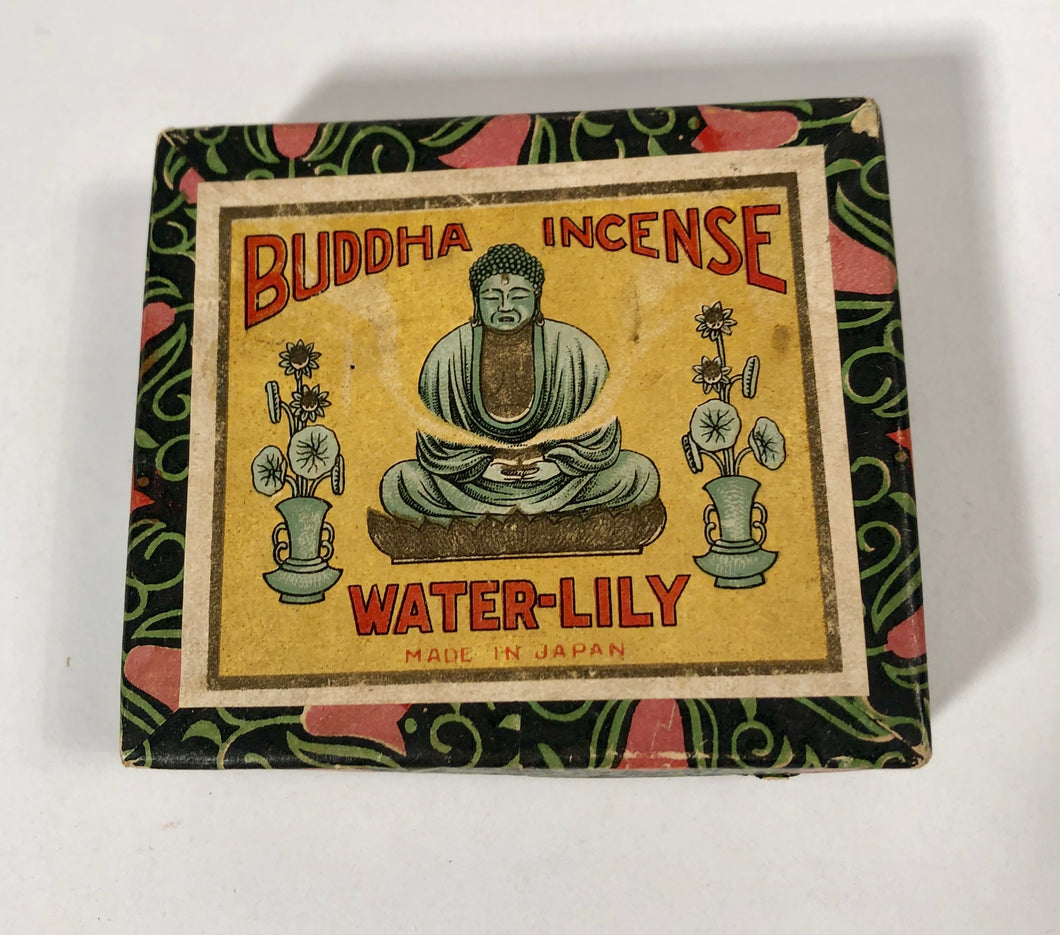 Vintage Buddha Incense Water Lilly Packaging Made in Japan