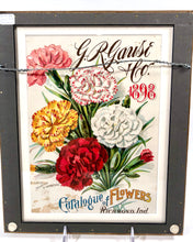 Load image into Gallery viewer, 1898 G.R. Gause & Co. CATALOGUE OF FLOWERS || Framed Magazine