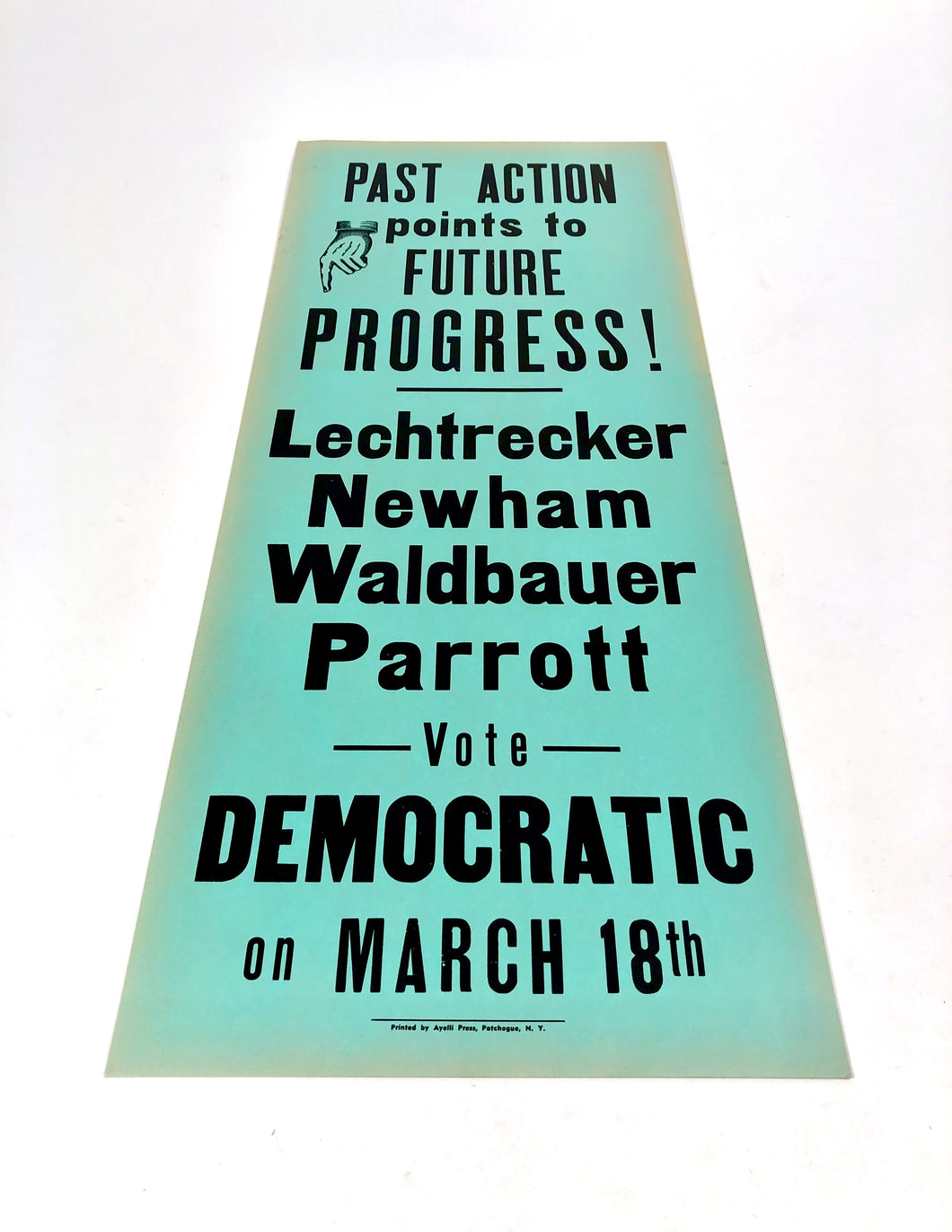1960s-1970s Vote Democratic Political Campaign Sign ||