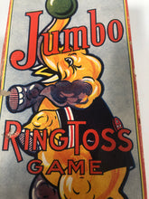 Load image into Gallery viewer, JUMBO the Elephant Vintage RING TOSS GAME, Rosebud Art Co. || Vintage Circus