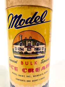 Art Deco Era Model Ice Cream Container, Carton
