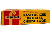 Load image into Gallery viewer, Midcentury Vintage Farmdale Pasteurized Process Cheese Food Box, Package