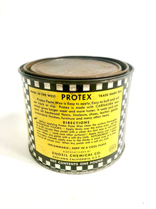 Antique ART DECO, Medium Protex High Gloss PASTE WAX Can || Floors, Wood