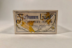 Antique AUTUMN LEAF Creamery Butter Packages || Two Shrink Wrapped Boxes