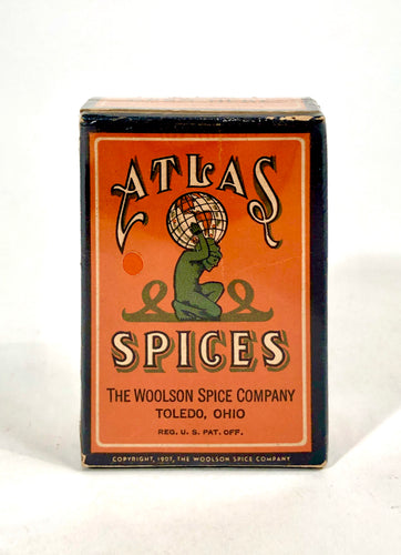 Antique ATLAS WHOLE ALLSPICE Spice Box || Full Package, Unused
