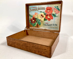 Antique D.M. Ferry, Choice FLOWER SEEDS, Original Seed Packet BOX, Detroit, Gardening