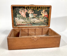 Load image into Gallery viewer, Kids in Canoe, Choice FLOWER SEEDS Box, Old Vintage, D.M Ferry
