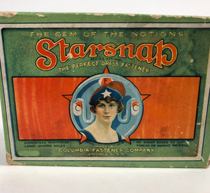 "Edwardian STARSNAP Dress Fastener, ""The Gem of Notions"" 