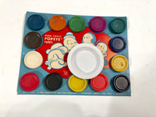 Load image into Gallery viewer, 1933 POPEYE PAINTS Tin Paint Set, Original Unused Paint, Brush and Water Plate