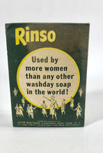 Load image into Gallery viewer, Unused and Unopened 1950's RINSO Box || Lever Brothers Co. NY