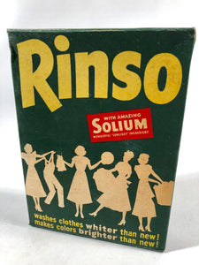 Unused and Unopened 1950's RINSO Box || Lever Brothers Co. NY