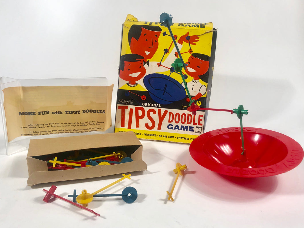 Mid-Century Multiple's Original TIPSY DOODLE GAME || Full Game with Complete Pieces