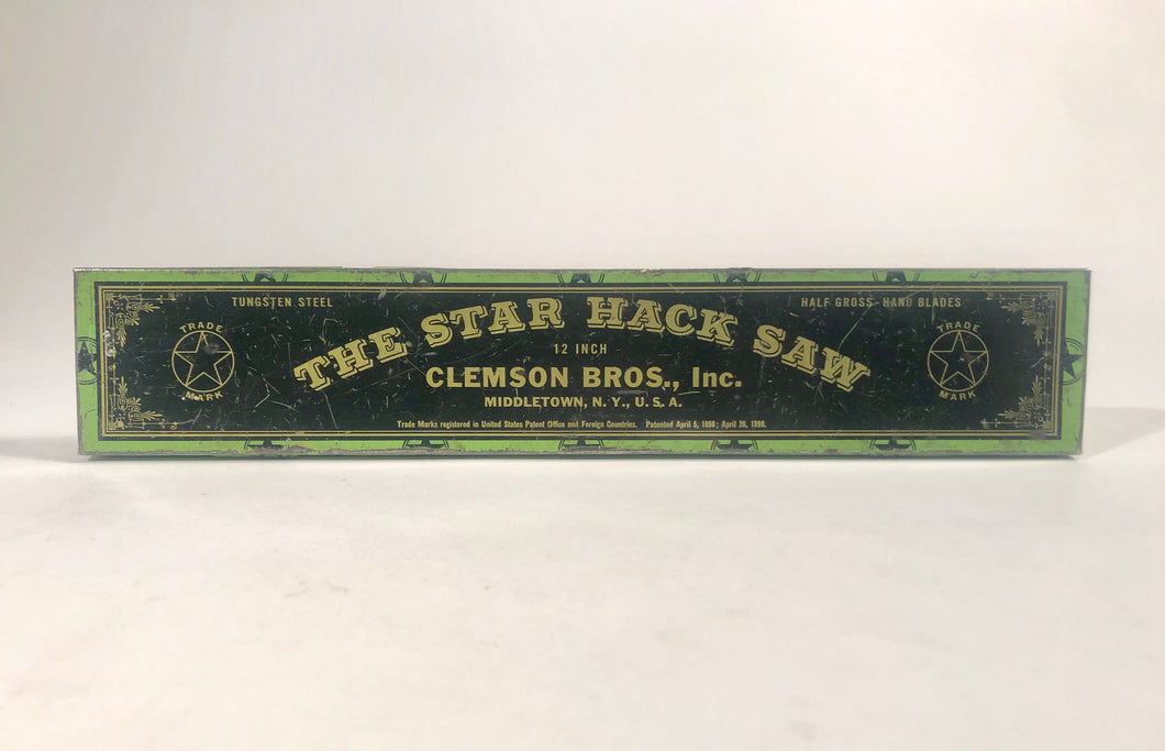 1898 STAR HACK SAW, Clemson Bros., Inc. || Middletown, N.Y.