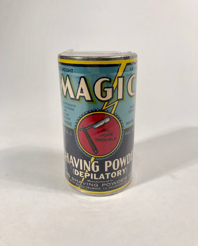 Antique MAGIC SHAVING POWDER (DEPILATORY) ||