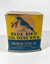 Load image into Gallery viewer, BLUE BIRD OIL STOVE WICK Box and Product, American Stove Co. || Lorain, Ohio