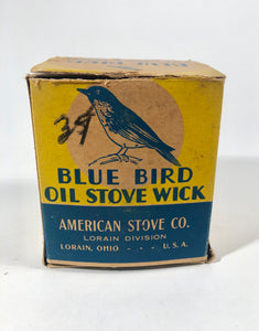 BLUE BIRD OIL STOVE WICK Box and Product, American Stove Co. || Lorain, Ohio