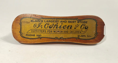 J. COHOEN & CO. Promotional Shoe Shine BRUSH, Outfitters for Women and Children || Elgin, Illinois