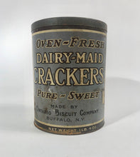Load image into Gallery viewer, LARGE Oven-Fresh DAIRY-MADE CRACKERS, Pure, Sweet, Ontario Biscuit Co. || Buffalo, N.Y.