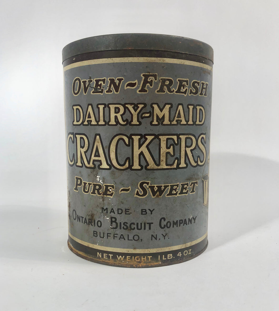 LARGE Oven-Fresh DAIRY-MADE CRACKERS, Pure, Sweet, Ontario Biscuit Co. || Buffalo, N.Y.
