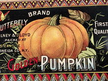 Load image into Gallery viewer, ONEIDA CO. Butterfly Brand GOLDEN PUMPKIN LABEL, Olney & Floyd || Westernville, N.Y.