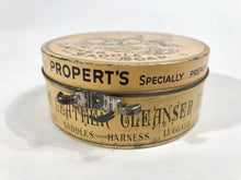 Load image into Gallery viewer, Victorian British PROPERT'S Specially Prepared LEATHER AND SADDLE SOAP Tin
