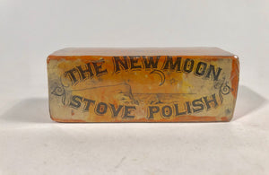 THE NEW MOON STOVE POLISH Product and Package, Box || F.L. Lewis & Co.