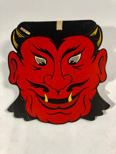 Vintage Die-Cut BEISTLE DEVIL Mask, HALLOWEEN Decoration || Vintage Holiday Decoration