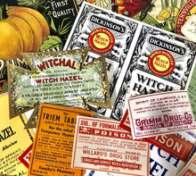 Load image into Gallery viewer, Set of Ten ANTIQUE HALLOWEEN Themed Unused Pharmacy and Poison LABELS
