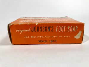 "1940's JOHNSON'S FOOT SOAP Borax Iodine & Bran Package with Original Product, ""Acts Like Magic"" 