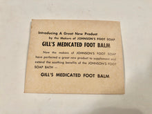 "Load image into Gallery viewer, 1940's JOHNSON'S FOOT SOAP Borax Iodine & Bran Package with Original Product, ""Acts Like Magic"" 