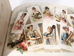 Victorian Rare Illustrated Book, YACHT COLORS OF THE WORLD, Costumes, Women || W. Duke Sons & Co.