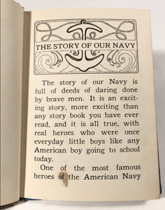1942 THE STORY OF OUR NAVY Children's Book, Contance Holland, Marguerite Gayer || McLoughlin Bros., Inc.
