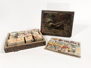 BY THE SEA Children's Book and Block Set in Original Box, Printed in Holland || Frederick Warne & Co.
