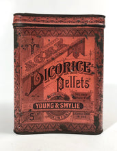 Load image into Gallery viewer, Young & Smylie ACME LICORICE PELLETS 5 lb Tin Cannister || Licorice Drops