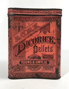 Young & Smylie ACME LICORICE PELLETS 5 lb Tin Cannister || Licorice Drops