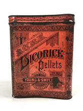 Load image into Gallery viewer, Young & Smylie ACME LICORCICE PELLETS 5 lb Tin Cannister || Licorice Drops