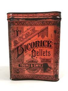 Young & Smylie ACME LICORCICE PELLETS 5 lb Tin Cannister || Licorice Drops
