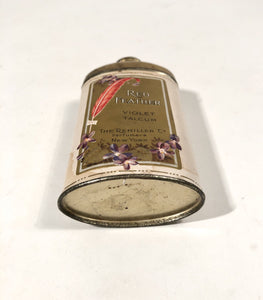 RED FEATHER Violet Talcum Powder Tin || The Remiller Co. Perfumers, New York