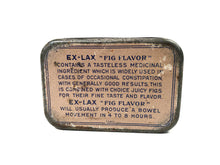 "Load image into Gallery viewer, Vintage ""Fig Flavor"" EX-LAX  Laxative Tin 