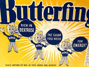 "Original Vintage BUTTERFINGER: ""The Energizing Candy"" Box 